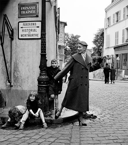 #MS010A Paris, Ready to Wear, 1950, Montmartre Kids on Curbstone (1st Edition)