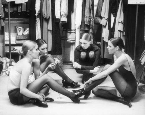 #MS020A Models resting before deisgner Jean Muir Fashion Show, 1980 (1st Edition)