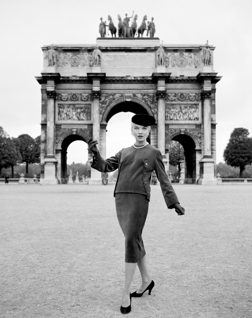 #MS004A Paris, Haute Couture, 1950, Givenchy, Arc de Triumph (1st Edition)