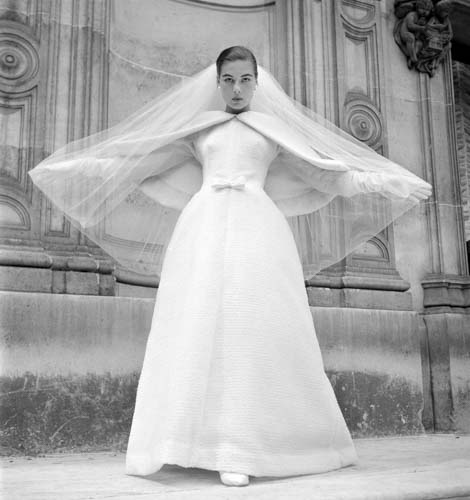 #MS006A Paris, Haute Couture, 1950, Givenchy Wedding Dress Paris Law Court (1st Edition)